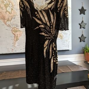 Vintage silk beaded dress.